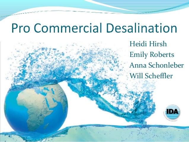 Desalination good