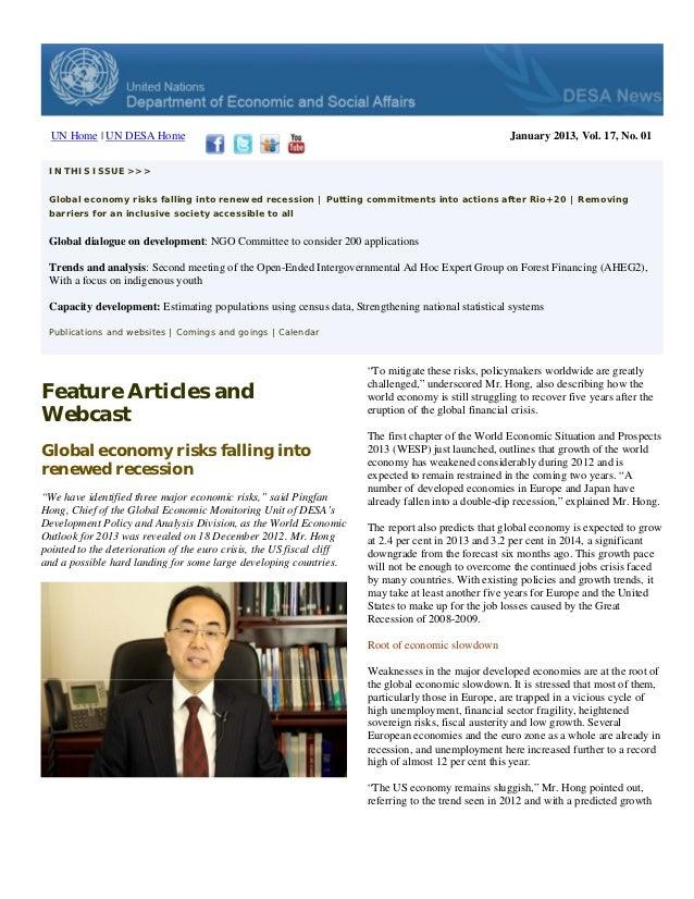 UN Home | UN DESA Home                                                                               January 2013, Vol. 17...