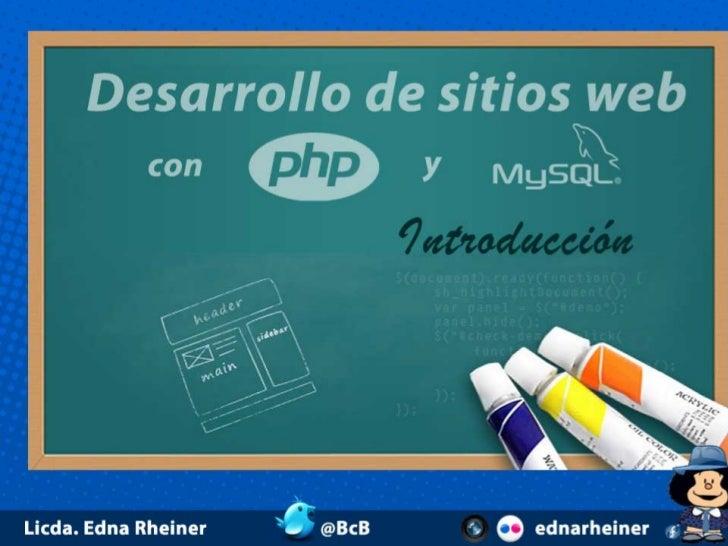 Desarollo de sitios web con php y mysql