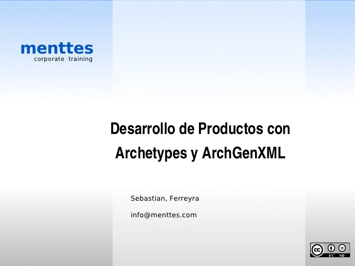 menttes  corporate training                           Desarrollo de Productos con                        Archetypes y Arch...