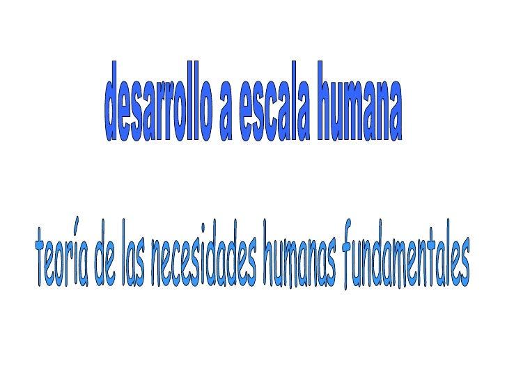 Desarrollo a escala_humana
