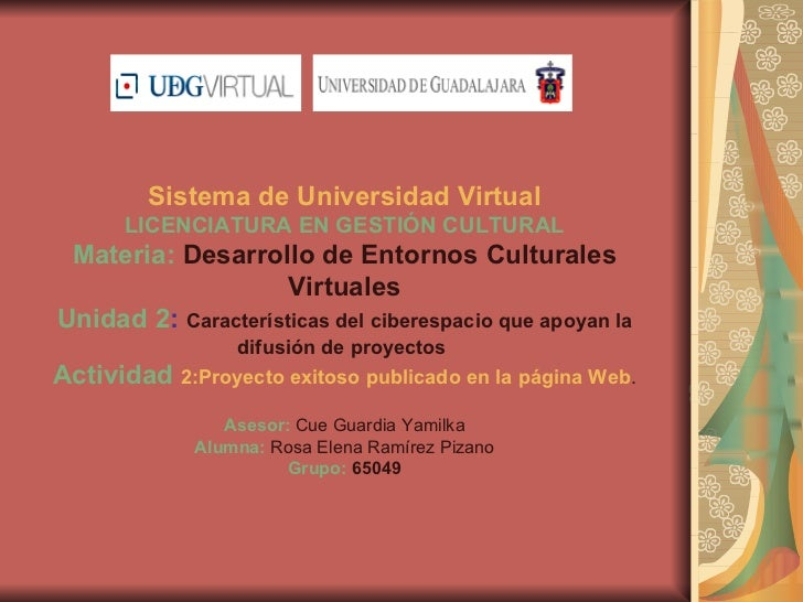 Desarrollo de entornos cult. virtuales u2 act. 2
