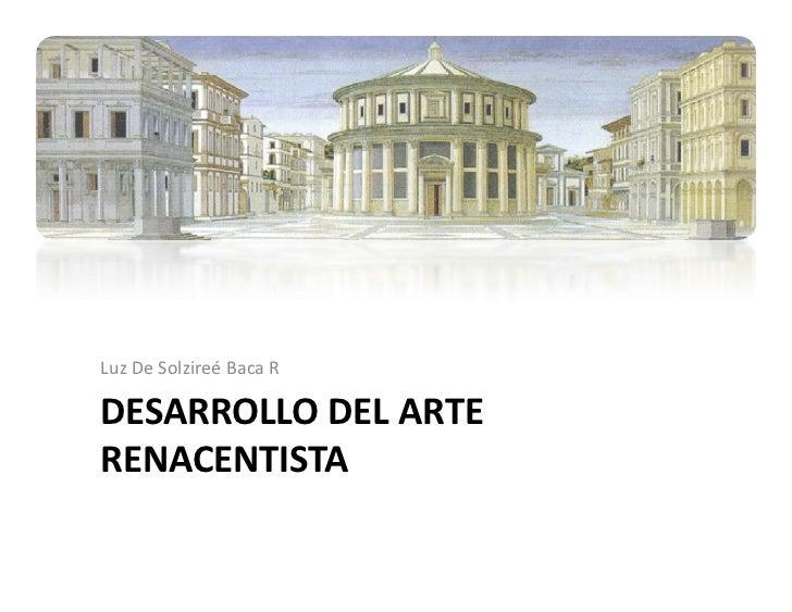 Desarrollo del arte renacentista