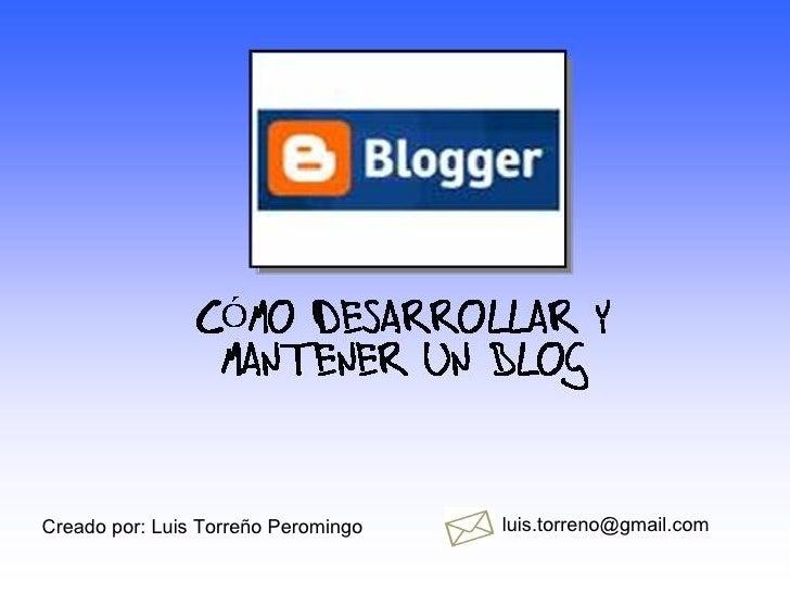 Desarrollo De Un Blog