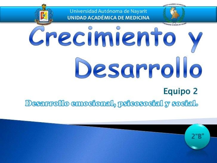 Universidad Autónoma de NayaritUNIDAD ACADÉMICA DE MEDICINA                                   Equipo 2                    ...
