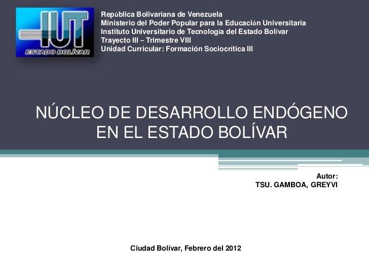 República Bolivariana de Venezuela      Ministerio del Poder Popular para la Educación Universitaria      Instituto Univer...