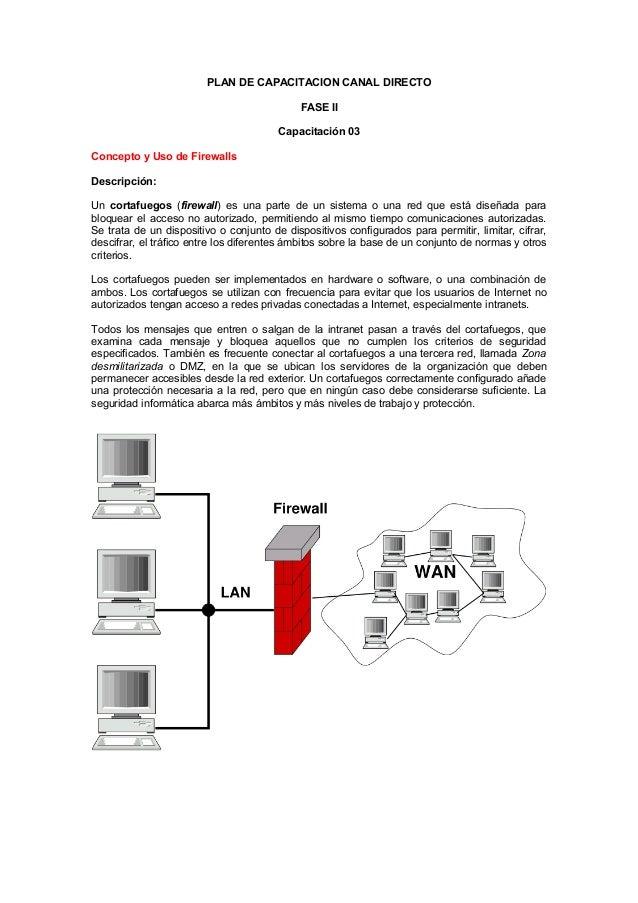 PLAN DE CAPACITACION CANAL DIRECTO                                             FASE II                                    ...