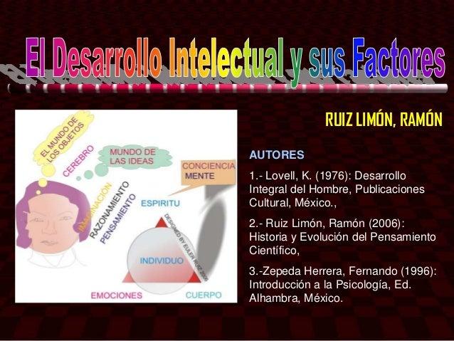 RUIZ LIMÓN, RAMÓNAUTORES1.- Lovell, K. (1976): DesarrolloIntegral del Hombre, PublicacionesCultural, México.,2.- Ruiz Limó...