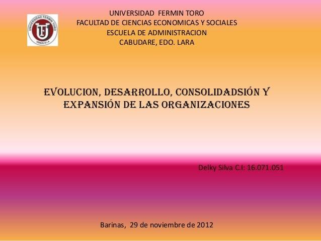 UNIVERSIDAD FERMIN TORO     FACULTAD DE CIENCIAS ECONOMICAS Y SOCIALES            ESCUELA DE ADMINISTRACION               ...