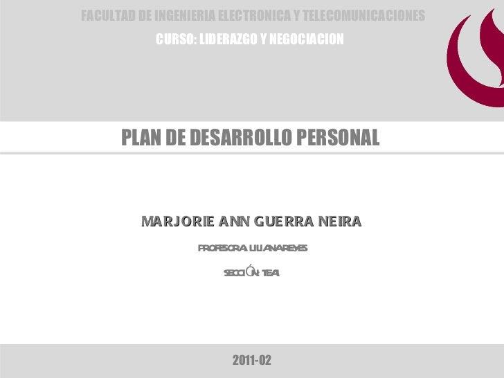 Plan de Desarrollo Personal_Marjorie