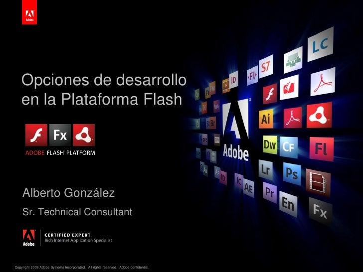 Desarrollo de aplicaciones sobre plataformas flash