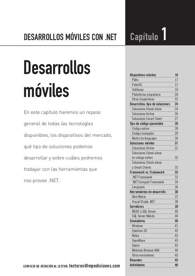 DESARROLLOS MÓVILES CON .NET                               Capítulo                1Desarrollos                           ...