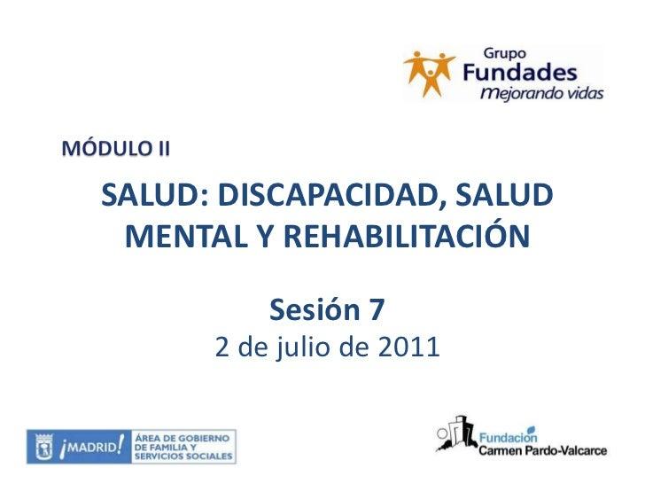 Desarrollo y puesta en práctica de la rehabilitación - abordaje fisioterapeutico