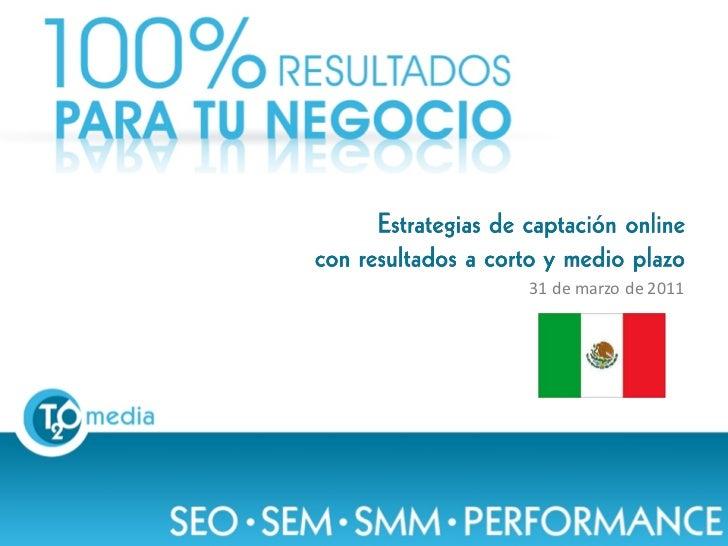 SEO SEM SMM Performance - Desayuno Conferencia Mexico - Marzo 2011-T2O media