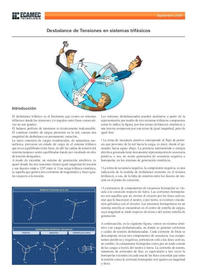 Septiembre 2009                           Desbalance de Tensiones en sistemas trifásicosIntroducciónEl desbalance trifásic...
