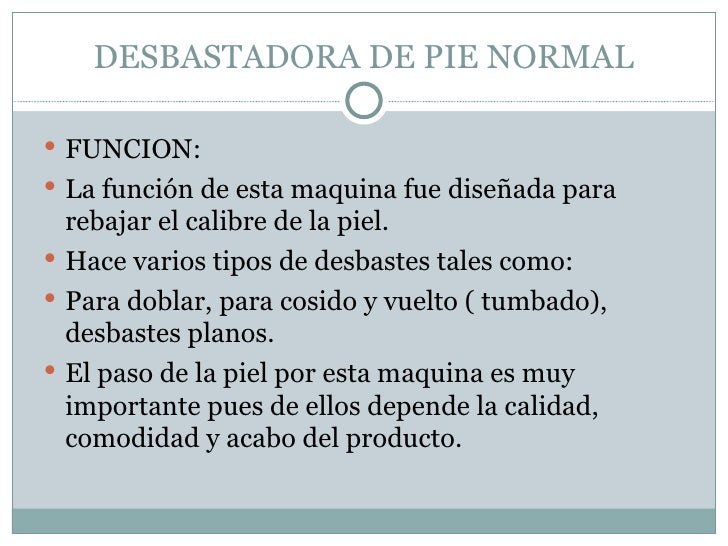 Desbastadora De Pie Normal
