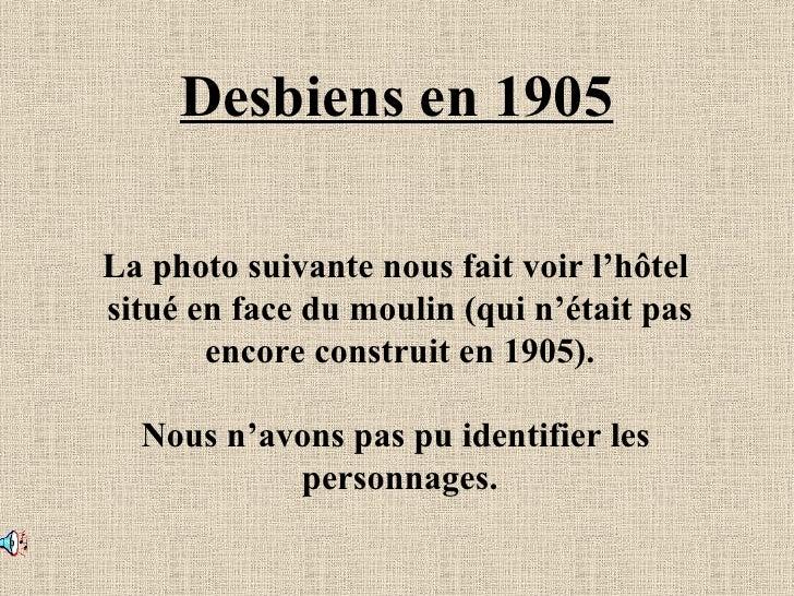 Desbiens en 1905