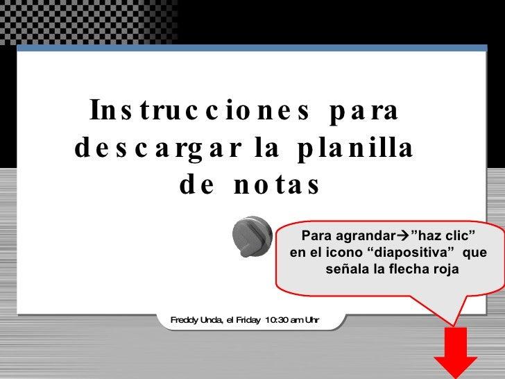 Descargar planilla de notas AAT_2009