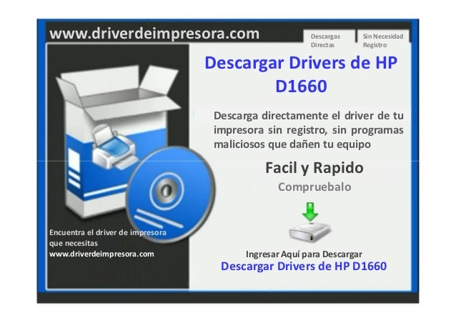 Descargar Drivers de Impresora HP D1660