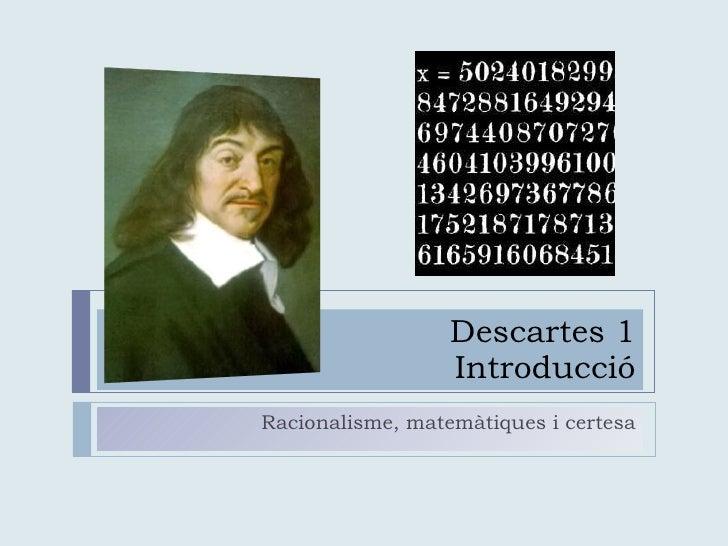 Descartes i el mètode