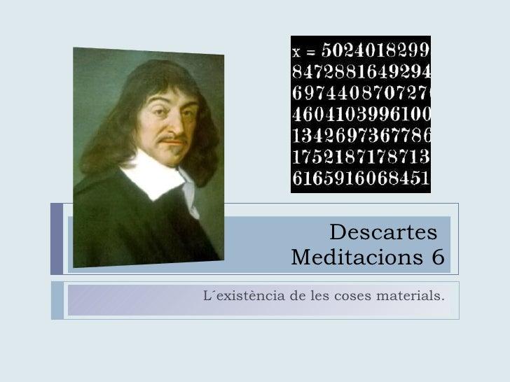 Descartes i les coses materials
