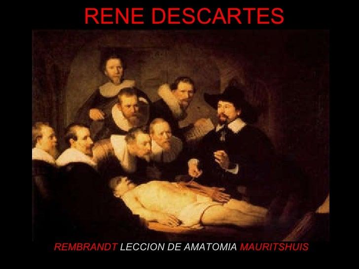 REMBRANDT  LECCION DE AMATOMIA   MAURITSHUIS RENE DESCARTES