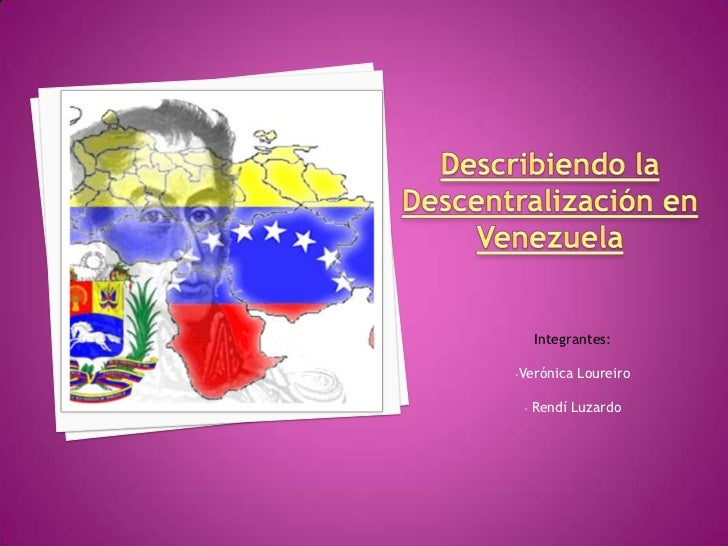 Descentralizacion En Venezuela