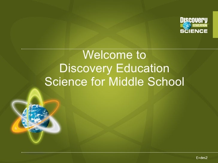 DE science middleschool training