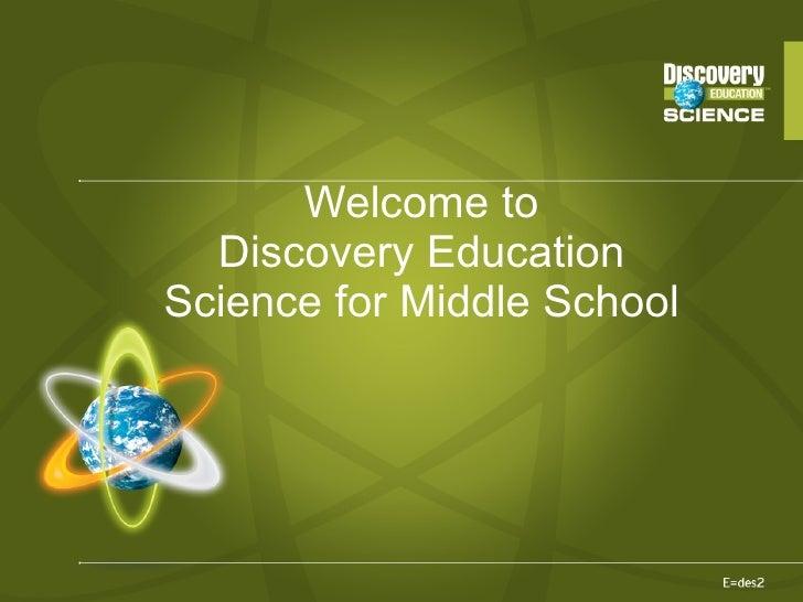 DE science middleschool training