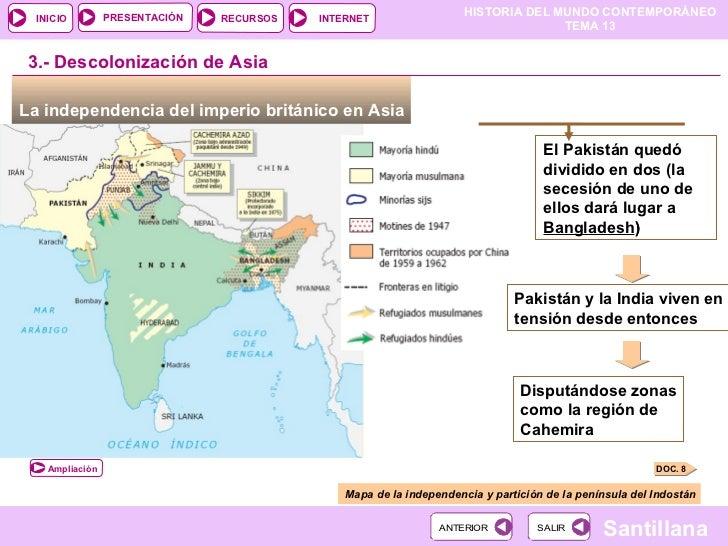 Descolonizaci n y tercer mundo - Tiempo en pakistan ...
