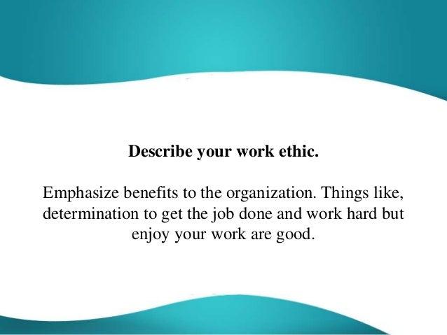 describe work ethic - Roberto.mattni.co
