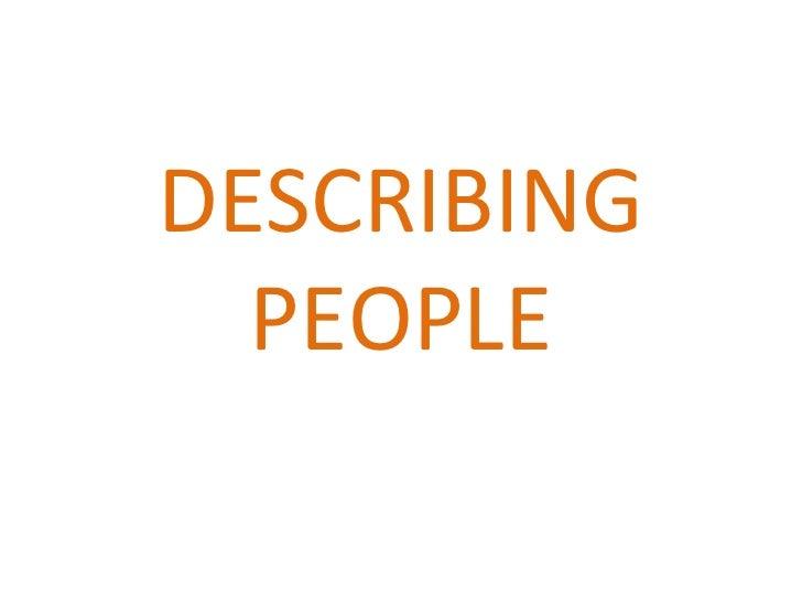 Describing people2-1