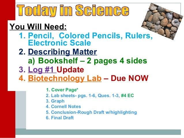 Describing Matter   Day 1