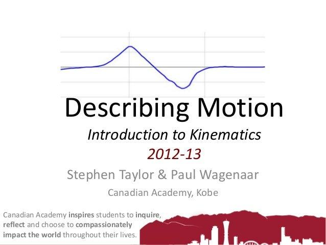 Describing Motion 2012