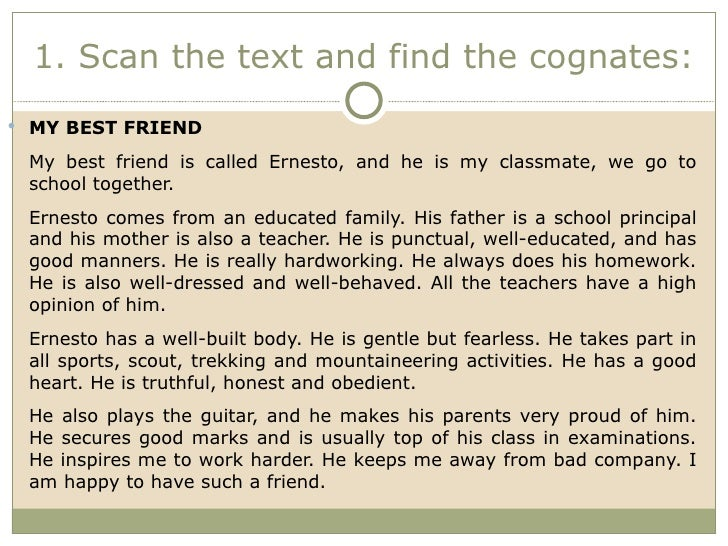 write an essay describing your best friend Describe a person – your best friend | samplesample description on topic describe a person: your best friend the faculty, composion courses tell us to write.