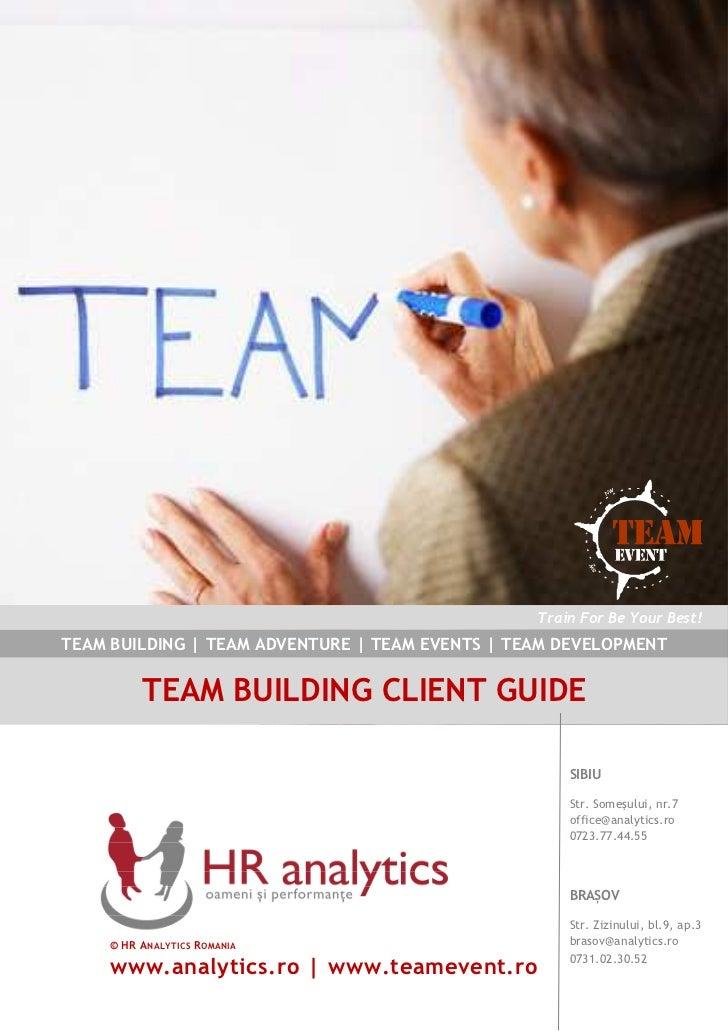 Descriere Metodologie Teambuilding   HR Analytics