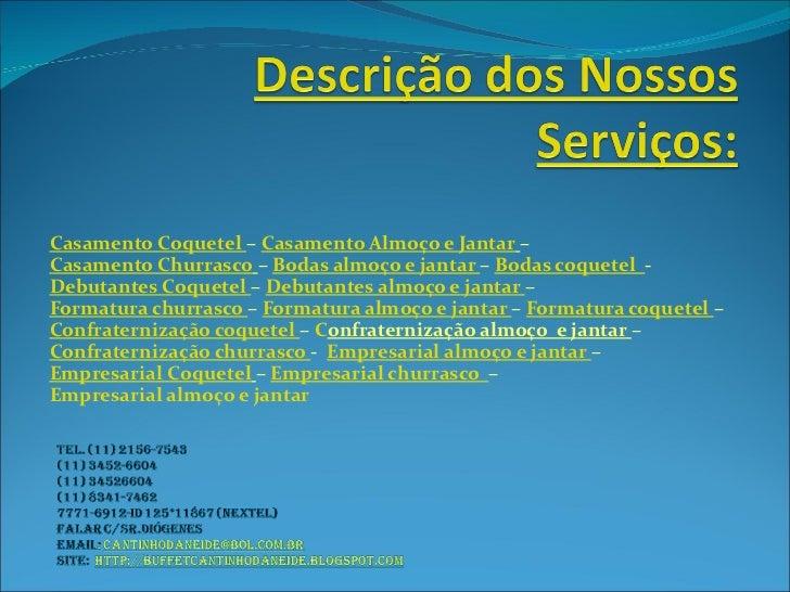Descrição dos nossos serviços II