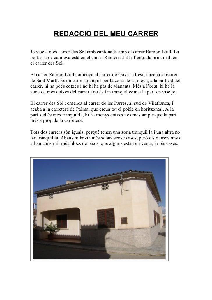 Descripció carrer Amador