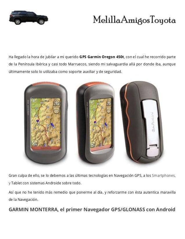 Descripción GPS Garmin Monterra
