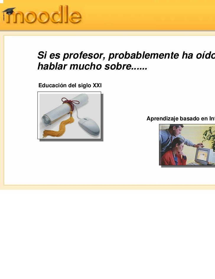 Descripcion de la plataforma moodle