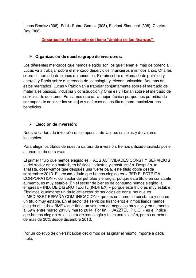 Descripcion proyecto ambito de las finanzas 308 - promo 2016