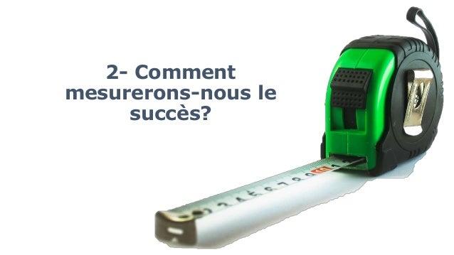 2- Comment mesurerons-nous le succès?