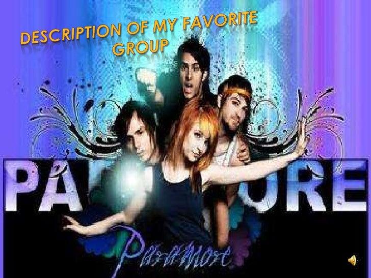 Description of my favorite group p aramore
