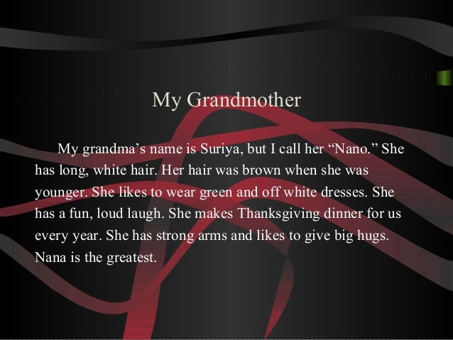 Essay Of Grandmother