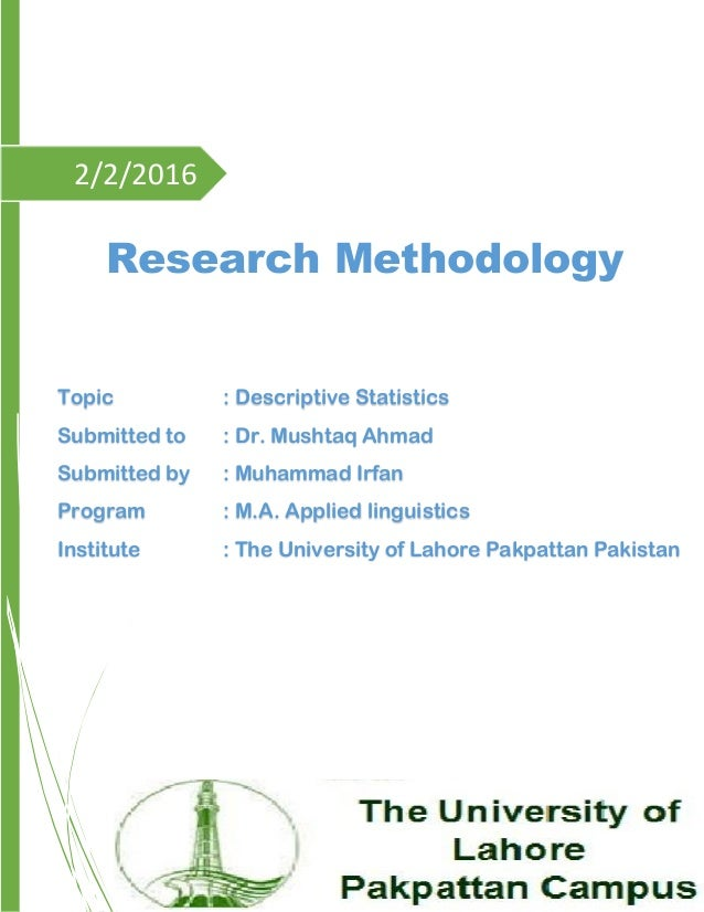 Examples of descriptive research methods