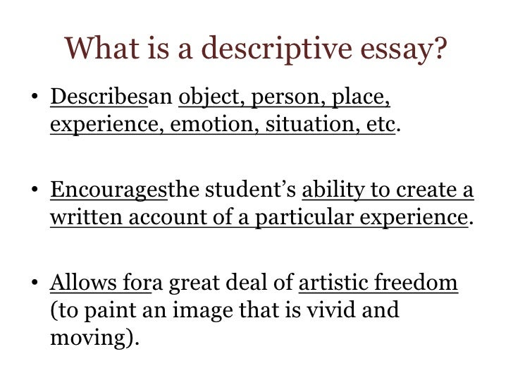 descriptive essay istanbul What is a descriptive essay a descriptive essay is an essay whose purpose is to describe or portray something, someone, or some place with enough detail to help.