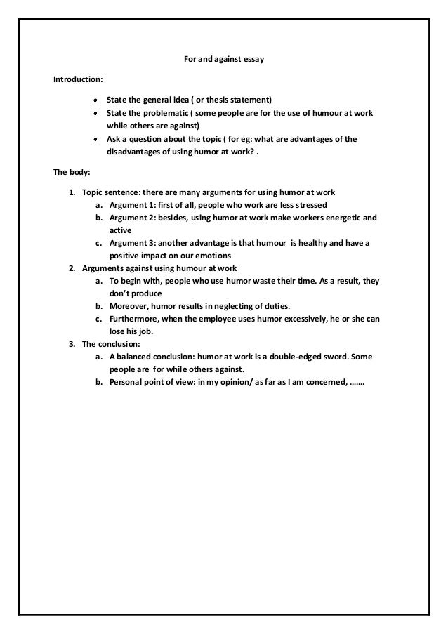 Argument essay thesis