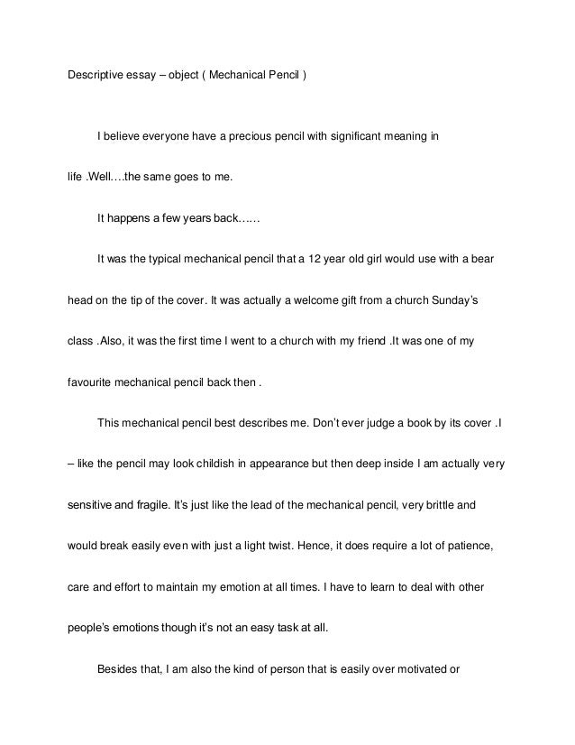 Science descriptive essay