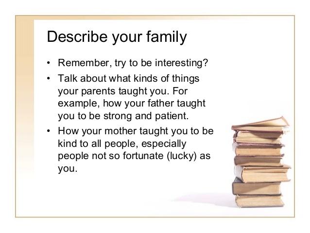 write essay your family