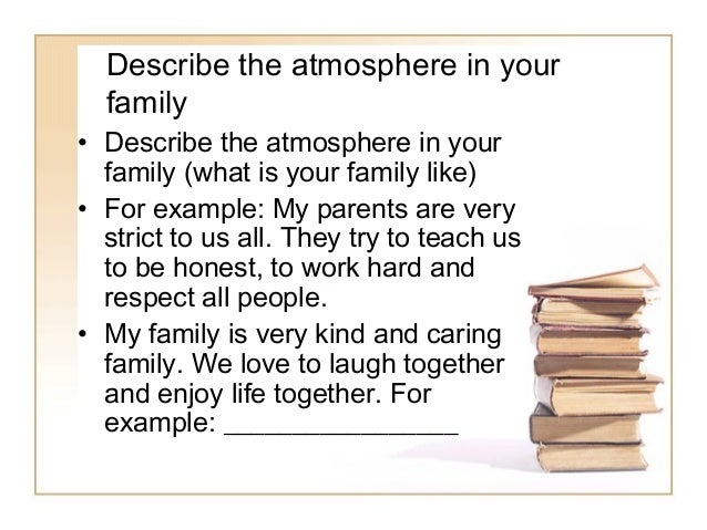 french essay on family relationships Self, family and friends - writing can you write about your family, friends and opinions in french your relationship with your parents.